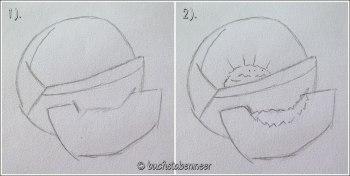 Pfirsich Zeichnung 1