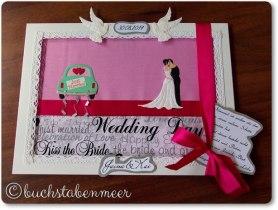 Hochzeitsgeschenk Glückwunschkarte im Rahmen
