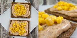 Brot mit Tunfischpaste und Mais
